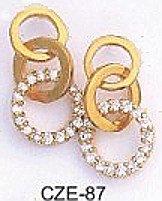 Circles Of Life  Russian CZ Earrings CZE-87