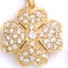 Four Leaf Clover Gold Or Rhodium Layered Pendant CZP-596