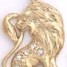 CZ Lion Gold Or Rhodium Layered Pendant CZP-588