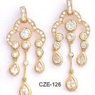 Chandelier CZ Gold Layered Earring CZE-126