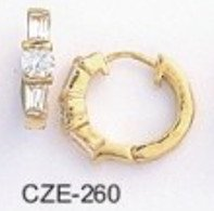 Hoop CZ Earrings 1/4  Inch CZE-260