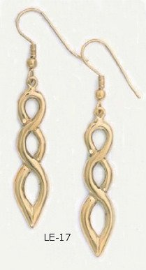 Infinity Earrings Gold Or Rhodium Layered  LE-17
