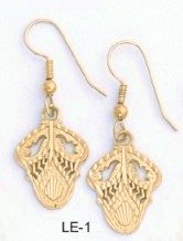 Filigree Acorn Earrings Gold  Layered  LE-1