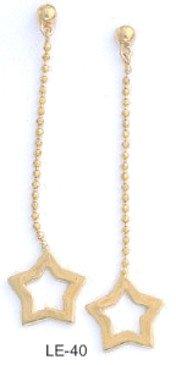 Trendy Star Dangle Earrings  LE-40
