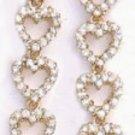 Sparkling Hearts Dangle Earrings  CZE-122