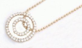 Circles Of Life Gold Or Rhodium Layered  Necklace CZNK-13