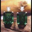 Mt St Helens Emerald Cut 10x8 Stud Earrings SHE-3