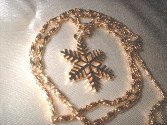 Christmas Snowflake Pendant Necklace   G-180-47C