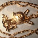 Christmas Reindeer Pendant Necklace   G-92-47C