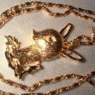 Christmas Reindeer Pendant Necklace   G-92-47C