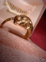 SNARLING TIGER 30 MILS GOLD OVERLAY RING