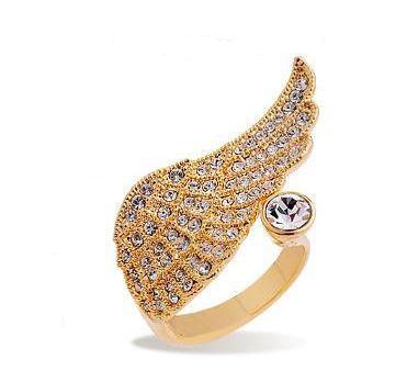 Retro Fashion Rhinestone Wing Ring