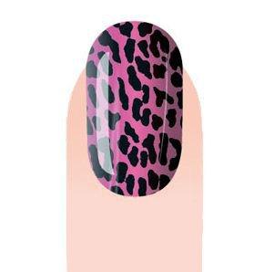 Pink Leopard Pattern Nail Stickers