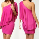 One Shoulder Strap Prom Dress - 31053D - Pink