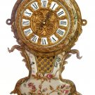 PORCELAIN WALL CLOCK ANTIQUE STYLE CRACKLED PORCELAIN WITH BRASS & BRONZE