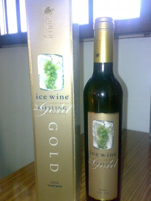 Riesling Ice Wine GOLD !