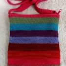 Aldo Girls Ladies Womens Knit Knitted Multi Color Shoulder Bag Purse