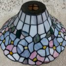 Stain Glass Lamp Shade Floral Opalescent w/ Lead