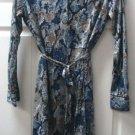 Avon Womens Ladies Lovely Crochet Flat Blue Dress Size 6