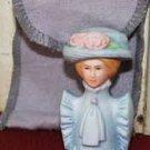 Avon American 1982 Fashion Women Lady Blue Hat Thimble