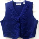 Karen Scott Purple Crochet Womens Ladies Vest PL