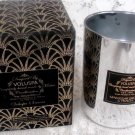 VOLUSPA Silver Glass Candle Holder Cup w/ Box