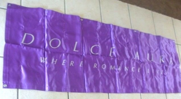 """Avon Dulce Aura Where Romance Lives Banner 70"""" x 23"""""""
