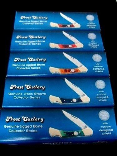 Frost Cutlery Genuine Jigged Bone Handle Lockback Knives German Steel (5)