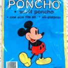 Walt Disney Mickey Mouse  Waterproof Vinyl Adult PonchoOne Size Fits All