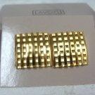 Avon Polished Check Goldtone Pierced Earrings - (vintage)