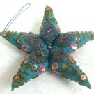 Beaded Crafted Star Ornament - (PRETTY)