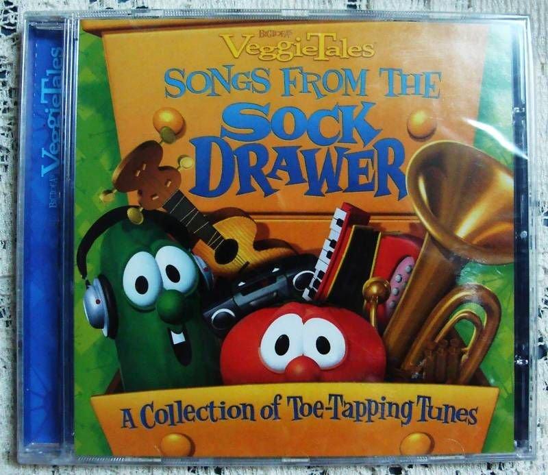 Veggie Tales Songs From sock Drawer CD - (SEALED)