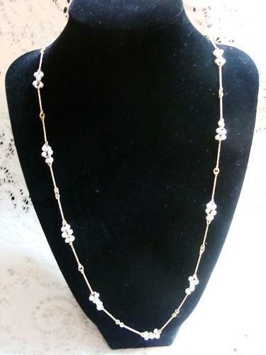 Avon Pearlized Cluster Necklace Choker Designer Beaded