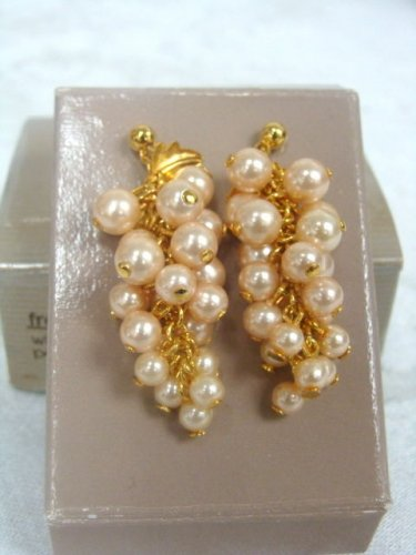 Avon Frosted Grapes Pierced Earrings - (vintage)