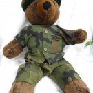 Military U.S. Army Stuffed Bear w/ Uniform - (NICE!)