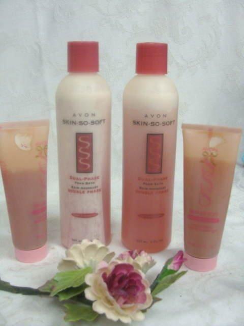 Avon SSS Foam Bath Collectible Bottles & Shower Gel
