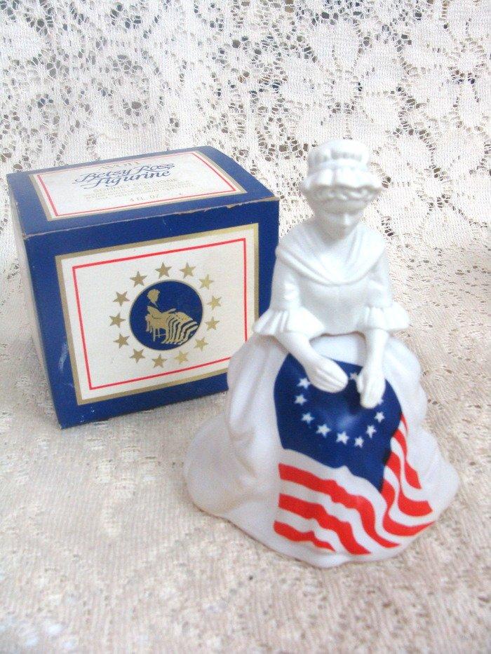 Avon Betsy Ross Figurine Sonnet Cologne 4 oz.