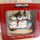 KIRKLAND JOLLY HOLIDAY ORNAMENT 3 SNOW BEARS MEN MAN