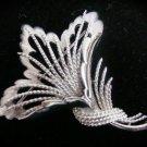 Monet Silver Leaf Collectible Vintage Brooch - NICE!