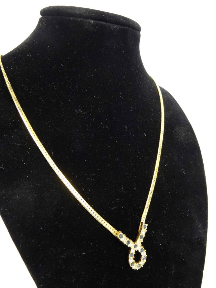 Avon Goldtone Necklace w/ Rhinetones - (NICE!)