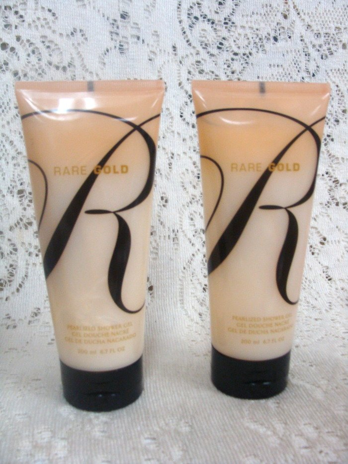 Avon Rare Gold Shower Gel 6.7 oz. (2) Set