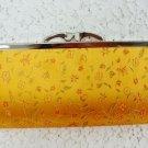 Purse Yellow/Orange Floral Wallet Size - (NICE)