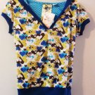 Spoiled Heart Girls Multi-Color Junior Top w/ Hoodie Size L  - (NEW)