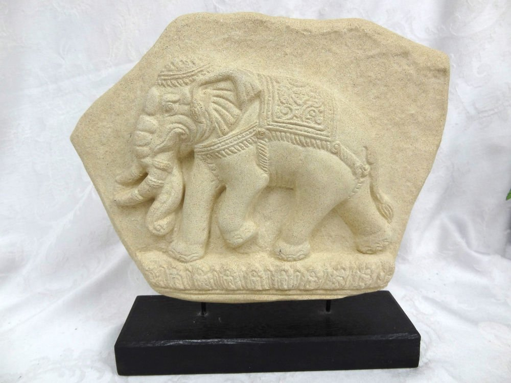 Elephant Plaque on Stand - (NICE!)