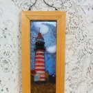 Lighthouse Stain Glass  Picture on Frame