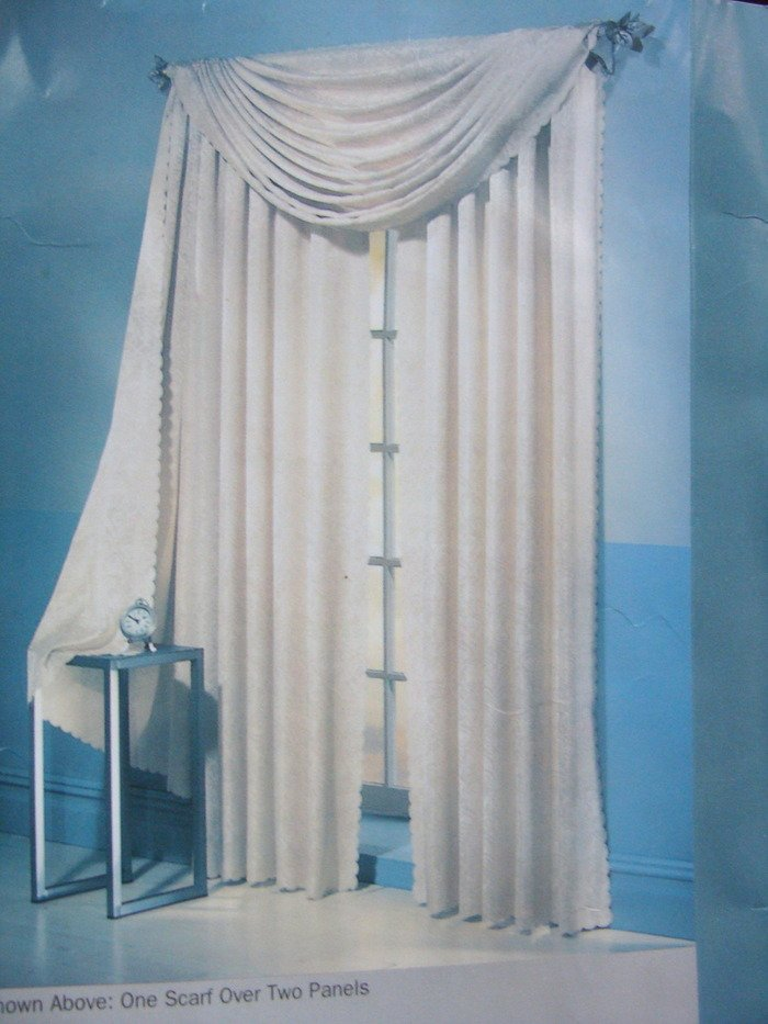 """One Celeste Panel Curtain  55"""" W x 84"""" L Oyster New"""