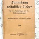 Antique German Hardcover  Religious Music Book 1917