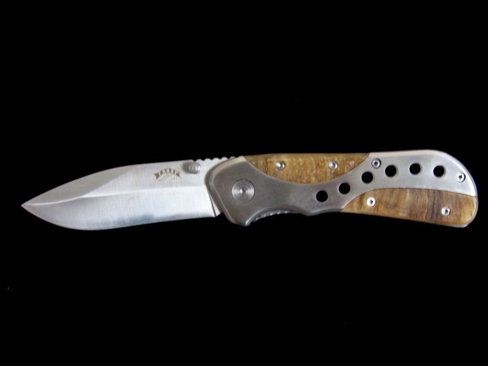 Frost Cutlery Dark Silence Stainless Steel Blade w/ Thumb Stud Tactical Knife