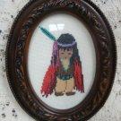 DeGrazia Cross Stitch Picture Red Blacket