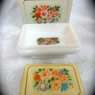 Avon Country Garden Soap Dish & Bird of Paradise Perfumed Soap
